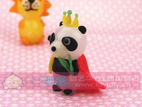 熊猫动物粘土作品