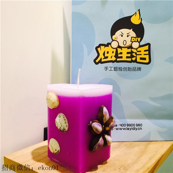 紫贝壳香薰手工家居蜡烛