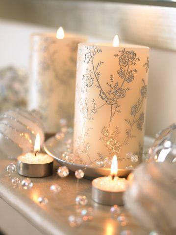 创意雕刻细腻花纹diy手工家居蜡烛