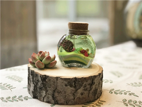 <b>室内儿童亲子乐园果冻蜡烛作品:森林世界</b>