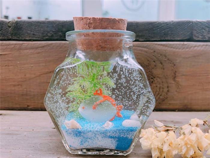 兒童創意手工加盟果凍蠟燭作品海底世界