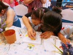 儿童创意手工加盟店周末亲子油画活动
