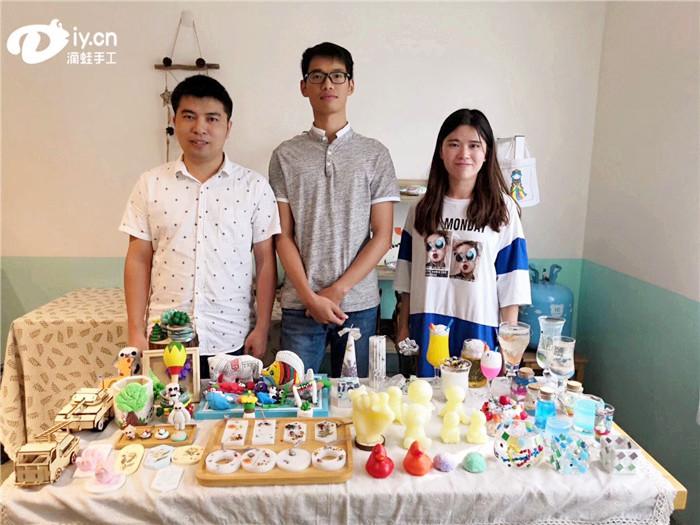 蜡烛手工DIY加盟店林店长基地培训分享