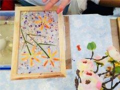 手工蜡烛DIY店创意无限的古法造纸活动现场