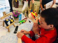 蜡烛DIY加盟店尤克里里手工活动现场分享
