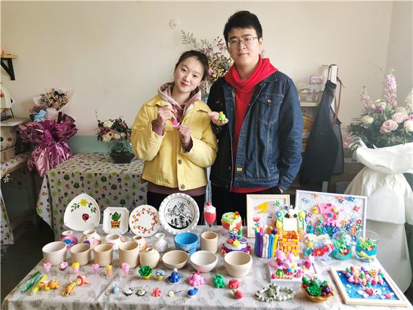 <b>          王店长陶艺手工店加盟培训成果分享</b>