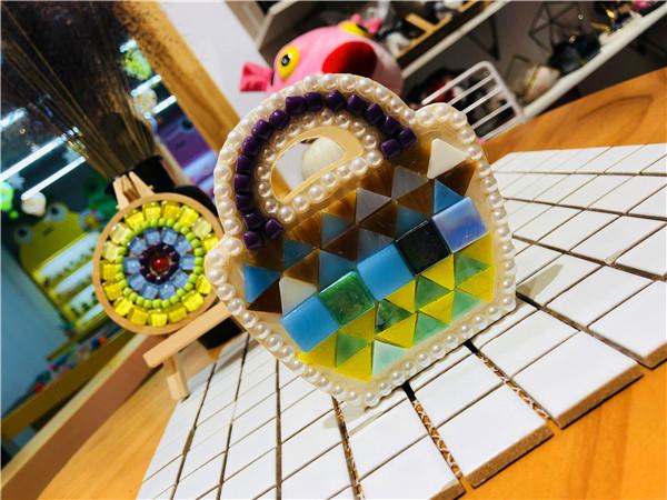 宝拉的创意乐园手工店里的马赛克DIY分享